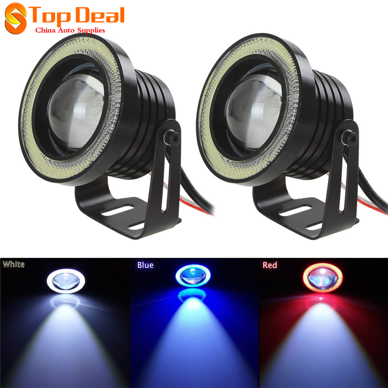 Clearance 2PCS 30W 12V Angel Eyes Cob Led Fog Lights Blue Red White Led Lamps 3 Inch Auto Led Lights<br><br>Aliexpress