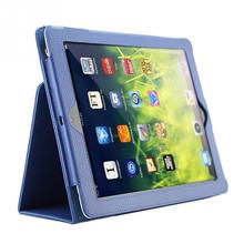 Good Quality 1Pc litchi pattern protective leather case For iPad 2/3/4 with sleep wake up function