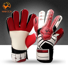 2017 New Arrival Kids Football Gloves Boys Football Goalkeeper Gloves Soccer Goal Keeper  Goalie Training Gloves Thicken Latex