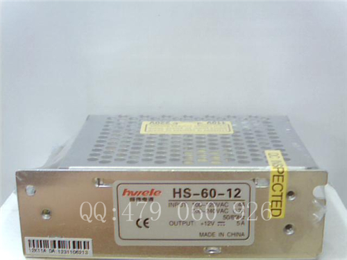 [ZOB] Heng Wei switching power supply HS-60-12 12V5A  --3PCS/LOT<br><br>Aliexpress