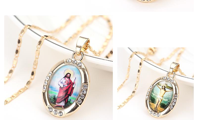 AYAYOO Necklaces&Pendants Gold Color Jesus Virgin Mary Necklace Women Chain Fashion Long Necklace Wedding Men Vintage Necklaces (3)