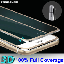 for iPhone 5 5s se 5C 6 6s 7 4.7 inch Clear Front Screen Protector Tempered Glass Full Cover 3D Curved Edge Protective Film