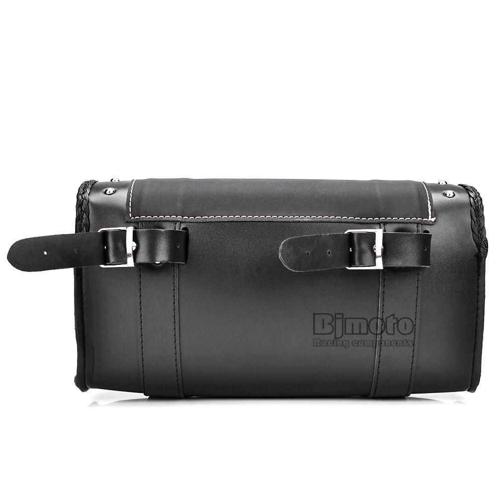 Black Motorcycle Saddlebag Bag PU Leather Luggage Saddle Bags For Harley Sportster Pannier Side Saddle Bag (11)