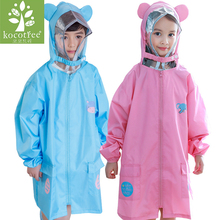 Kocotree Kids Rain Suit Animal Design Raincoats Outdoor Thicken Waterproof Rain Coat for Girls 4 Colors Raincoat Kids Poncho