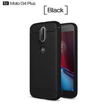 For Motorola moto G4 plus case Latest Hybrid slim Super armor Carbon Fiber Texture Brushed Silicone Cover phone cases ( XX89 )