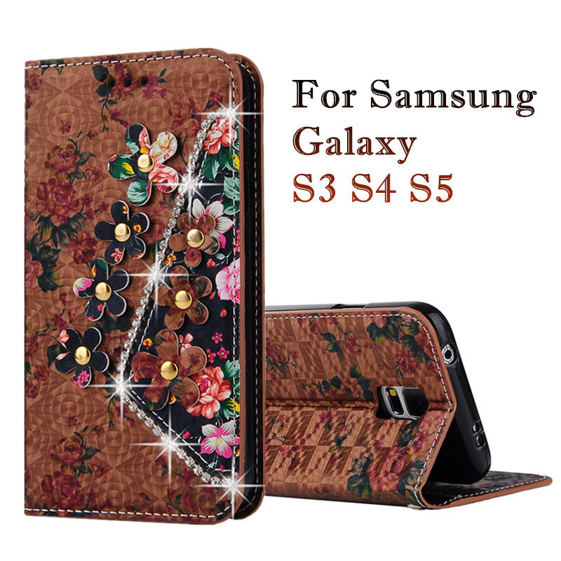 Flip Wallet PU Leather font b Case b font for font b Samsung b font Galaxy