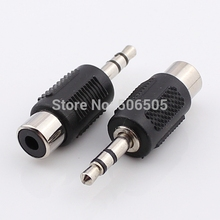 Free shipping High Quality 3.5mm audio plug to RCA  socket 3.5 Adapter