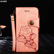 Buy ELAIDE Fashion Rose Flower Paint Phone Bag Cover iPhone 7 Case Flip Wallet iPhone 8 Case Cover Coque iPhone 5 6 Plus for $3.59 in AliExpress store