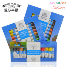 12/18 Colors Winsor&Newton Watercolor Colors Tube Set Gouache paint For Children Drawing Art Supplies Water Color Drawing Tools(China)