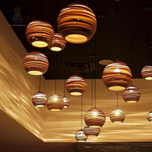 Vintage Rural Paper Honeycomb Lamp Bra Pendant Lights Lampshade Paper Lanterns For Home and Bar creative design lamp Decoration(China)