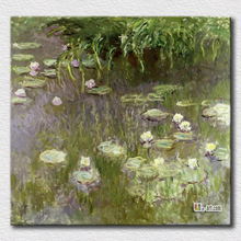 High quality oil painting reproduction water lilies canvas prints wall pictures for living room decoration(China)