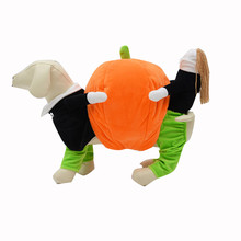 Super Whimsy Funny Halloween Pumpkins Garment Four Feet Pumpkin Pet Dog Clothes