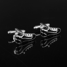 dongsheng Wholesale 12pcs/lot Football Shoes Cufflinks Black Enamel Cuff Links Novelty Sport Design Business Suit Pins-40(China)