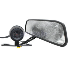 HD Video Auto Parking LCD Monitor Car Butterfly Camera + 4.3 inch Car Rear View Mirror Monitor for Backing