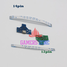 20pcs=10sets 12pin & 14pin JDS-001 JDS-011 LED Power /Charging Board w/ Ribbon Cable for Sony PS4 Wireless Controller(China)