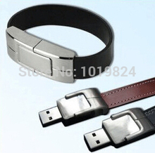 100% real capacity leather Wristband iron usb flash drive/ memory card /pen/car drive 32G  usb flash drives Free ShppingS413 *