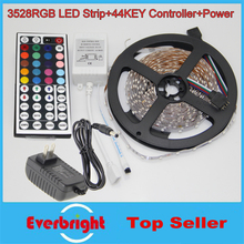 3528 LED Strip Flexible Light 5M 300 Led SMD IR Remote Controller 12V 2A Power Adapter Free Shipping(China)