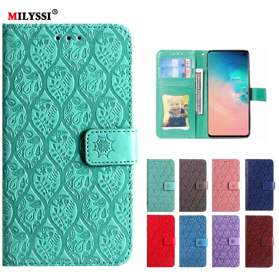 Luxury Leather Wallet Case For Samsung Galaxy S10 Cover for Coque Samsung S10 Plus Flip Case for Samsung Galaxy S10 e S10E Case(China)