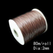 2MM Wax Cord 80m/lot Dark Brown Jewelry Cord Jewelry Making FXT009-12