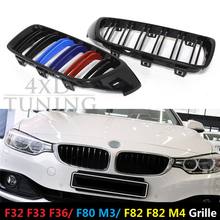 M4 Look Design ABS Plastic 1:1 Replacemet Front Grille Glossy Black for bmw f82 f83 m4 4 series f32 f33 f36 2014 2015 2106