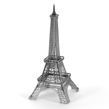Eiffel Tower DIY Metal Earth Building Model Jigsaw Puzzle Metal 3d Puzzle Educational Toys(China)