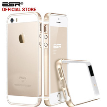 Case for iphone 5s/SE, ESR Metal Frame Ultra Thin Aluminum Alloy Frame Soft bumper case for iphone SE/5/5S(China)