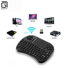 Mini I8 Wireless Keyboard with Arabic English Russian Hebrew LanguageTouch Pad Air Mouse for PC/Laptop/iPad/Android TV Box