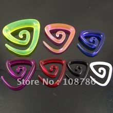 120pcs Multicolored Ear Expander earring triangle shape Spiral ear plug UV flesh tunnel piercing body Jewelry(China)