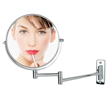 5x 7x Magnification Double Side Folding Wall Mounted Makeup Shave Vanity Mirror Round Wall Mirror Bathroom Mirror Make Up Tools