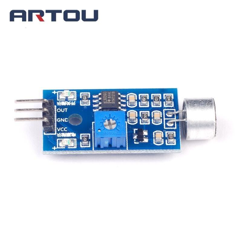 1PCS Microphone Amplifier Sound MIC Voice Module Whistle Module Voice Sensor Sound Detection Sound Sensor Module