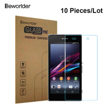 Tempered Glass For Sony Xperia Z1 L39h C6906 C6903 10 pcs/lot Phone Retail Box Screen Protector Film For Sony 1