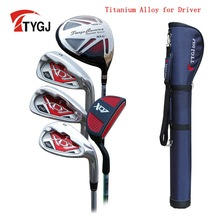 Brand TTYGJ 5-pieces Half Golf Clubs Set with Bag Leaner Beginner golf clubs branded golf irons set(China)