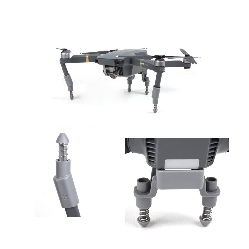 5 in 1 Accessories Kits Landing Gear Leg Height Extender Gimbal Cover Silicone Lens Cover, Battery Cap Bracket For DJI Mavic Pro