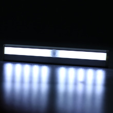 1PC Fashion Hot Sale 10 LED Strip Light Battery Operated Wireless Motion Sensor Detector Night Lamp Home Garden Use