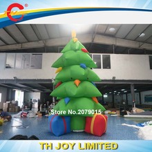 Free air ship to door!5m/17ft inflatable Christmas tree/beautiful inflatable tree for Santa Claus holiday