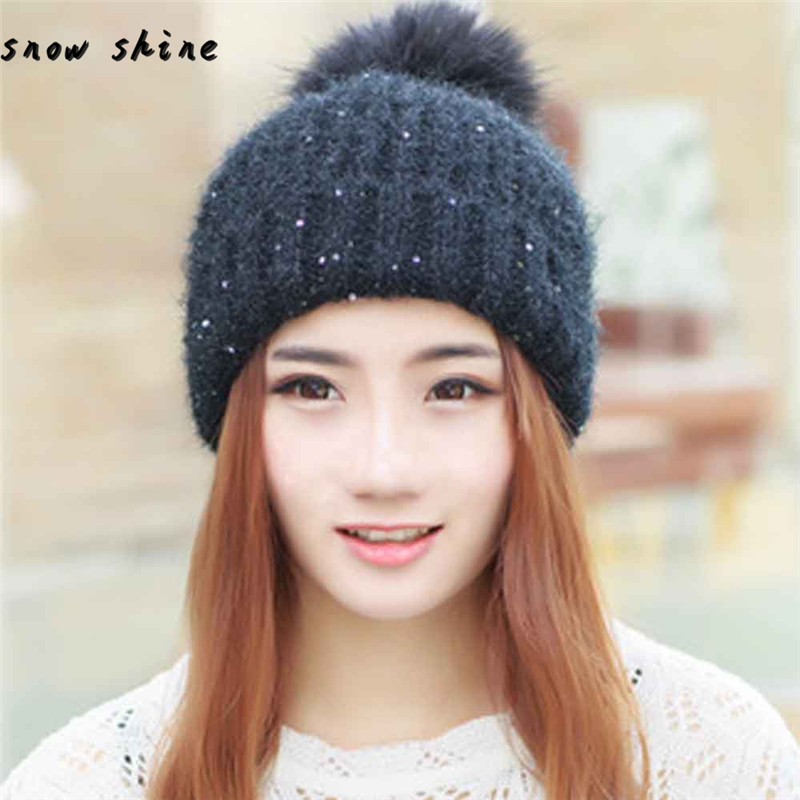 snowshine #2001  Women Fashion Keep Warm Winter Hats Knitted Wool Hemming Hat free shippingÎäåæäà è àêñåññóàðû<br><br><br>Aliexpress
