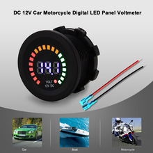 KKmoon Car Styling Universal DC 12V Car Motorcycle Boat Digital LED Panel Voltage Display Volt Meter Voltmeter(China)