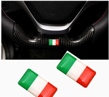 Discount National Italy Flags Car Window Door Handle Steering Wheel Audio Home Phone Emblems Italy Flag Car-styling Accessories
