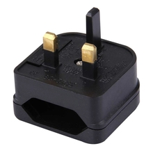 BS-5732 Portable EU Plug to UK Plug Adapter Power Socket Travel Converter with Fuse(China)