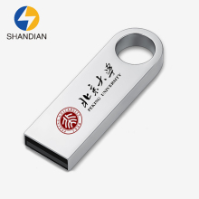 Creative Printed Metal Company publicity Gift Customize logo Pendrive USB Flash Drive 32gb 16gb 8gb Memory Stick Storage Device(China)