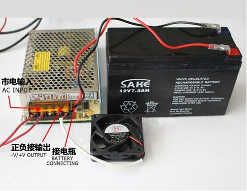 SC-120W-12 120W 12V universal AC UPS function monitor switching power supply input 110/220v battery charger output 13.8v<br>