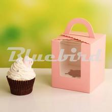50pcs/lot  Paper Cake Boxes Clear Plastic Window Cake Box Cup Cake Box/Wedding Favors And Gifts Wedding Cake Boxes And Packaging