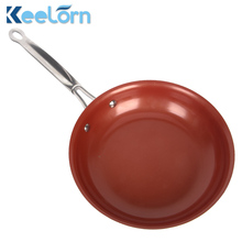 16cm 18cm 20cm Non-stick Copper Frying Pan with Ceramic Coating and Induction cooking,Oven & Dishwasher safe(China)