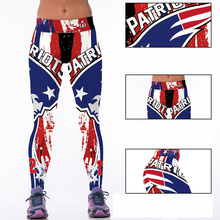 Woman Yoga Pants Fitness Fiber Sports patriot Leggings Tights American football Trousers Exercise Training Clothing Sportswear