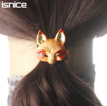 isnice Women hair accessories Metal Animal hair clip Headband Female Ponytail Gum for Hair Headwear Elastic Hair Band hairpins(China)