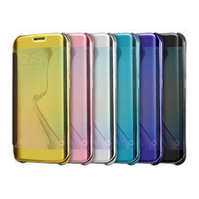 Fashion Electroplate Mirror Phone Bags Case for Samsung Galaxy S8 Cover Luxury Flip Coque Capas for Samsung Galaxy S8 Plus Case