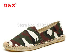 Plus big size US11 Flats,Spring Summer Camouflage Canvas Espadrilles Casual shoes men,Latest Breathable 100% cotton Loafers