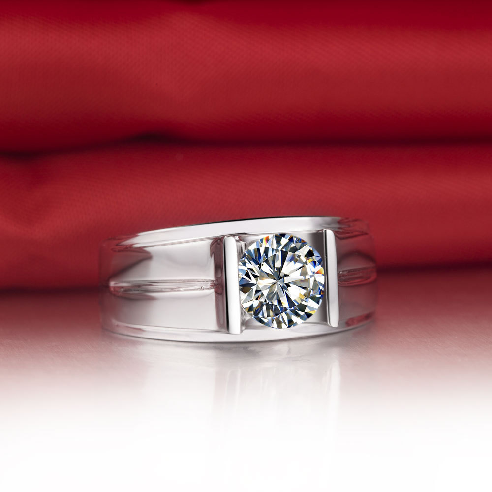 Mens Diamond Wedding Bands and Pinky Rings
