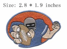 "Rugby player  2.8"" wide embroidery patch  for patches for clothing/strong man/unity"