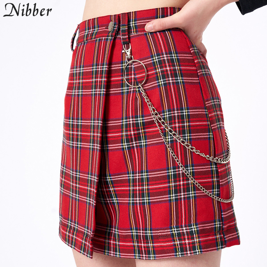 red skirts short skirts fashion party casual short skirts